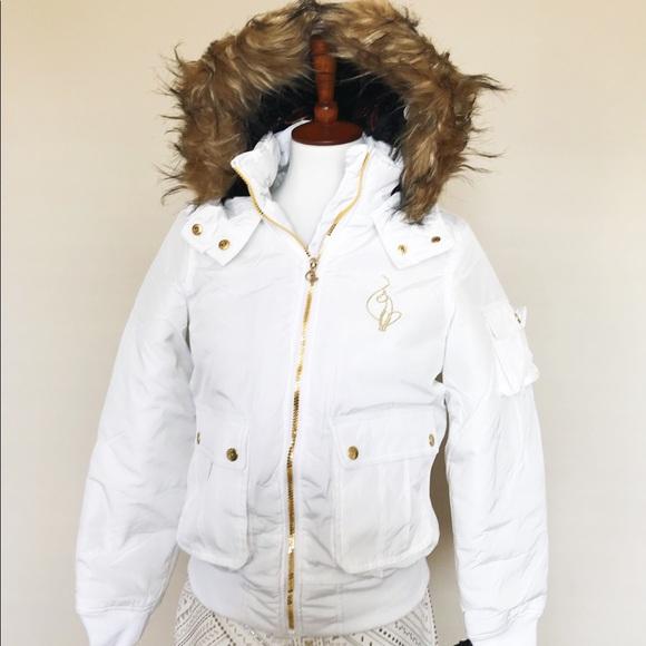 Baby Phat white puffer jacket 69cb40415