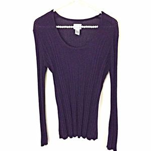 Chico's SZ 1 or 8  Sweater Purple Metallic