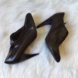 Sam Edelman Whitley Faux Snake Skin Ankle Booties