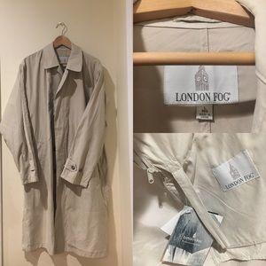 NWT London Fog Rain Coat  Convertible Trench!