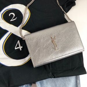 NEW Saint Laurent Python Embossed Wallet on Chain