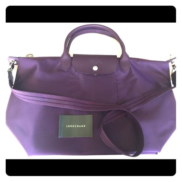 d39d577655e3 Longchamp Handbags - Longchamp Le Pliage Neo Medium Handbag Bilberry