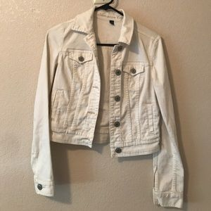 American eagle white fitted jacket