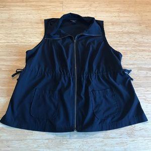 Black Lane Bryant vest