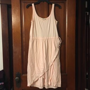 Synergy clothing light pink tie dress