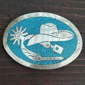 Accessories - Cowboy Hat & Spurs Belt Buckle