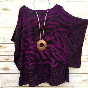 ebd030b799f Dex Clothing Tops - Dex Clothing Plus Size Purple   Black Tunic Top