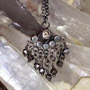 Diamond Pendant SS// Handmade NWOT