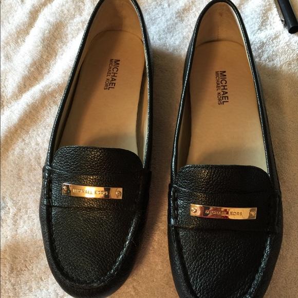 14eb79c6cf2 Michael Kors women s black leather Everett loafer.  M 59f517f4522b45f3ee03280e