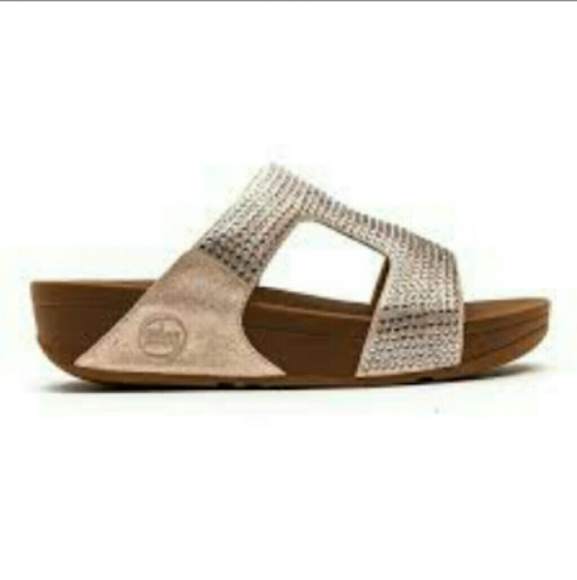 563651103 Fitflop Shoes - Fitflop Rokkit Nude Slide  Sandal