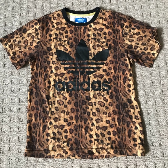 Special edition leopard Adidas tee shirt