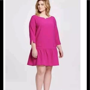 Victoria Beckham for Target Pink Drop Waist Dress