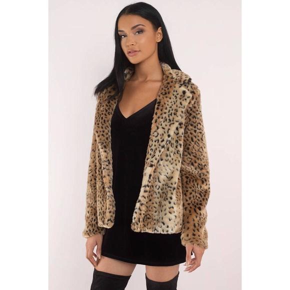 Tobi Jackets & Blazers - Wild Guess Natural Leopard Print Faux Fur Coat