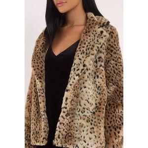 Tobi Jackets & Coats - Wild Guess Natural Leopard Print Faux Fur Coat