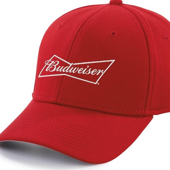3694782e7fe57 Red Budweiser Baseball Hat