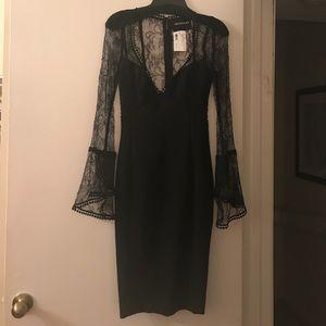 NWT Nicholas Black Lace Bell Dress Size 2