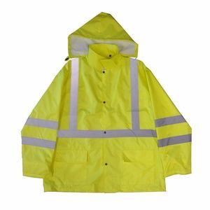0742acb748b Work Force Jackets   Coats - Class 3 Hi Visibility Rain Jacket