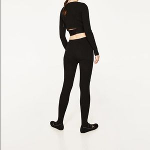 652c72ed Zara Pants | Leggings With Ballerina Foot Straps | Poshmark