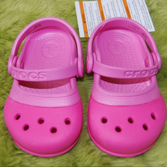 133b83586 Crocs Toddler Girl s Pink Mary Jane Sandals C5