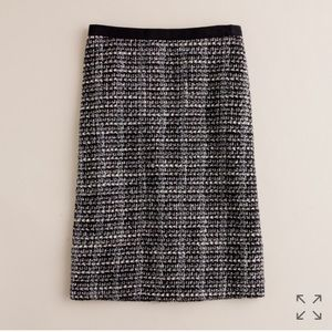 J. Crew No.2 pencil skirt in midnight tweed
