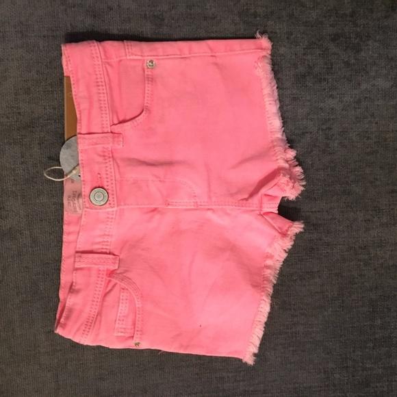 7d21462521 Zara Bottoms | Neon Pink Cutoff Jean Baby Shorts 912 Months | Poshmark