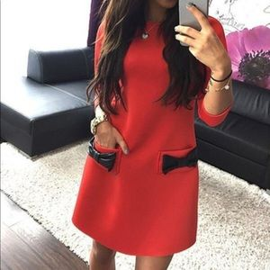 Dresses & Skirts - Flirty red dress with cute little bows