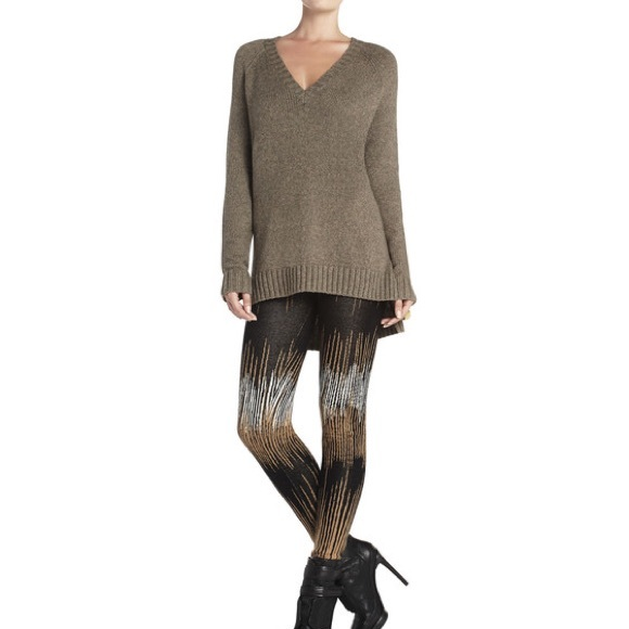 608a9c01295c3a BCBGMaxAzria Sweaters - BCBG Maxazria Masha Baggy Gray/Brown VNeck Sweater