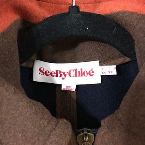See By Chloe Jackets & Coats - See by Chloe wool cape