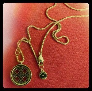 Michael Kors Jewelry - MICHAEL KORS ETCHED MONOGRAM DISK PENDANT