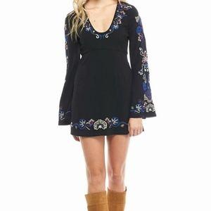 06d3dc041c3b Free People Dresses - Sale Free People Holiday Folk Mini Dress Black 4