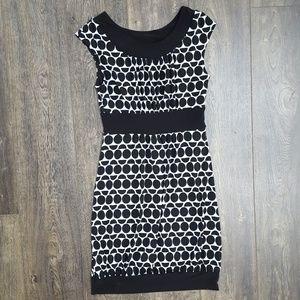 White House Black Market Polka Dot Dress- Size Sm