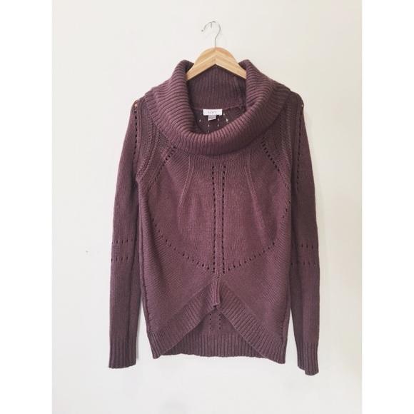 79% off LOFT Sweaters - Loft cowl neck purple Tunic Sweater from ...