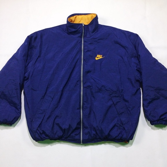 a0affb337303 Nike Reversible Blue Yellow Zip Up Coat Mens Large.  M 59f54260ea3f36979c03fd6b