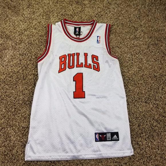 sale retailer dcff4 f1466 Adidas Jersey 50 Large Derrick Rose Chicago Bulls