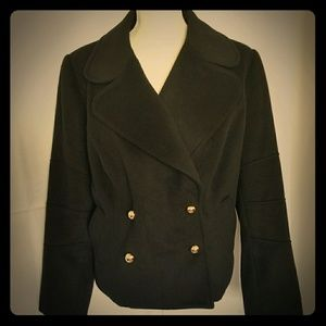 Women's One Button Double Breasted Black Blazer