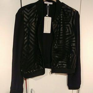 Black Laced Front Jacket