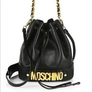 Preowned Moschino Bucket Bag Black/Gold