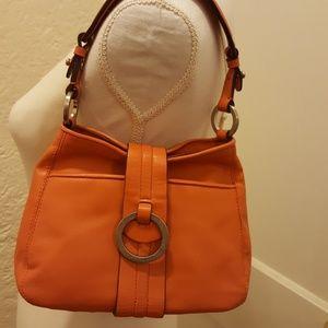 Ann Taylor Orange small leather purse.