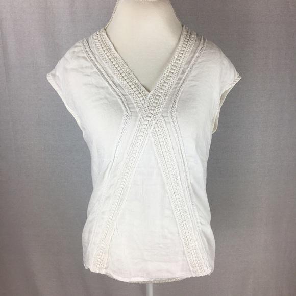 4ae94cad1ca91d Elena Baldi Tops - Elena Baldi White Linen Top - Made in Italy 🇮🇹
