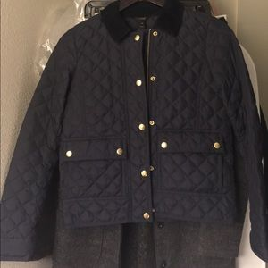 Jcrew quilted coat size xxs new with tags