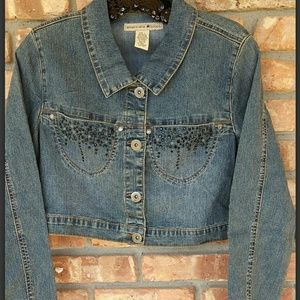 Jackets & Blazers - Short waisted blue jean jacket. New never worn.