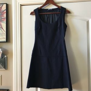 NWOT Prada Stuctured Navy Shift Dress