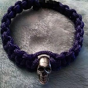 Skull Paracord Bracelet (Purple)