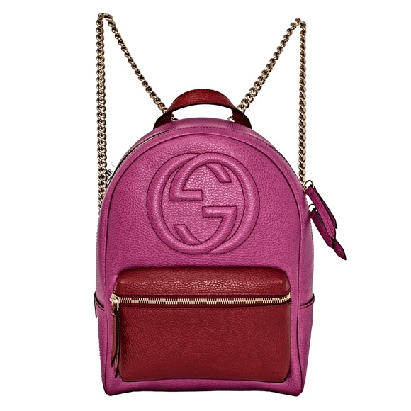discount price highly praised promo code NEW GUCCI SOHO LEATHER CHAIN BACKPACK
