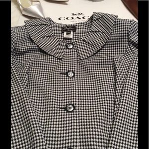 🎁NWT-2PC Black/White Houndstooth Check Jacket 20W