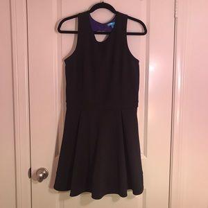 L'Amour Nanette Lepore black zip back skater dress