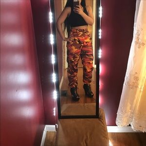 army universe Pants - Orange camo pants 3331e598fdc