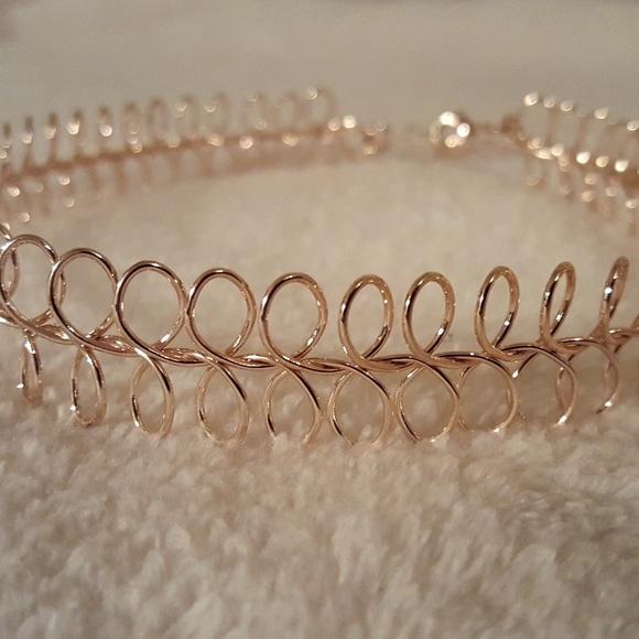 9d6febdf4 Jewelry | Rose Gold Metal Tattoo Choker | Poshmark