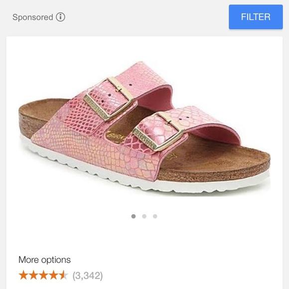 5534bfb0d7d4 Birkenstock Shoes - BIRKENSTOCK Arizona- Shiny Pink Snakeskin