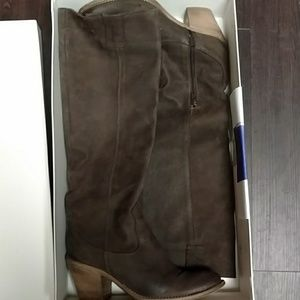 Shoes - Trotta & Pagano, Italian, Brown Suede knee boots